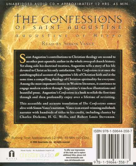 The Confessions of Saint Augustine - Audiobook on CD