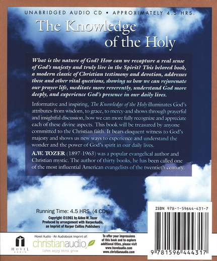 The Knowledge of the Holy--CD