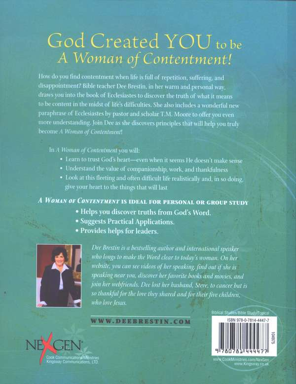 A Woman of Contentment: Ecclesiastes, Dee Brestin Bible Study  Series
