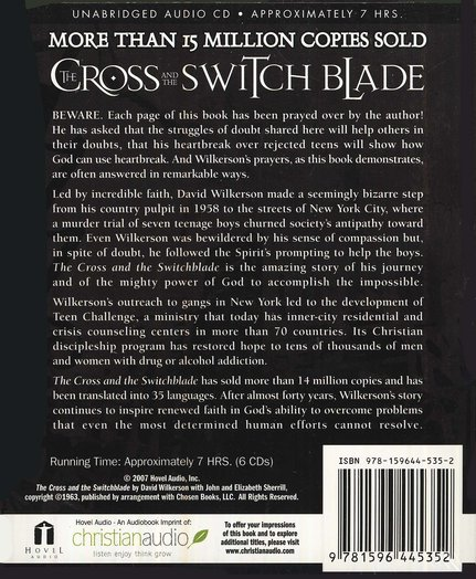 The Cross and the Switchblade Unabridged Audiobook on CD