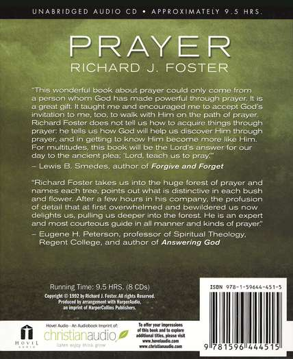 Prayer: Finding the Heart's True Home - audiobook on CD