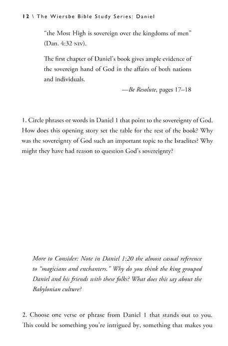 Daniel: The Warren Wiersbe Bible Study Series