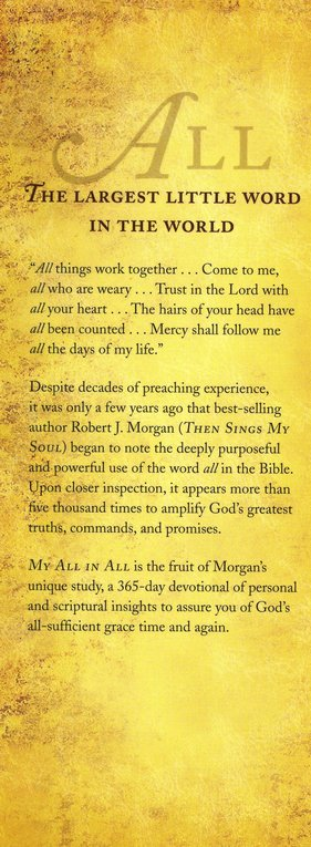 My All in All: Daily Assurance of God's Grace
