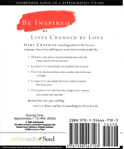Love is a Verb: Stories of What Happens When Love Comes Alive - Audiobook on CD