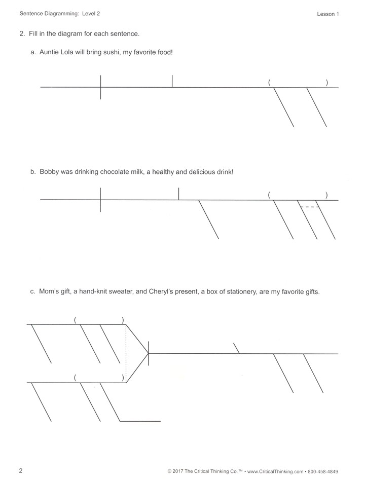 Sentence diagramming level 2 9781601448552 christianbook ccuart Image collections