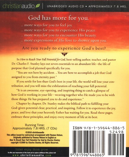 How To Reach Your Full Potential for God Unabridged Audiobook on CD