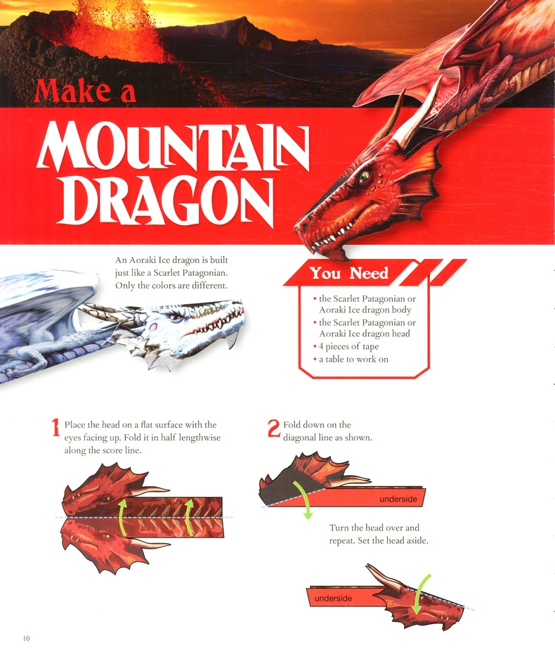 Paper Flying Dragons Make 12 Send Them Soaring Pat Murphy Klutz Press 9780545449366 Activity Books