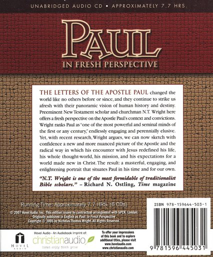 Paul in Fresh Perspective Audiobook on CD