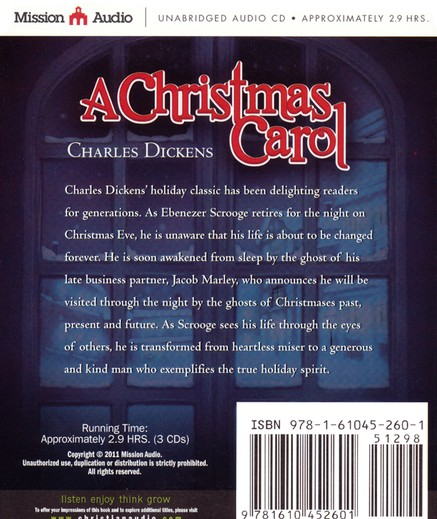 A Christmas Carol Unabridged Audiobook on CD