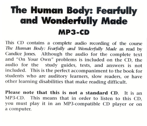 The Human Body MP3 Audio CD, 1st Edition