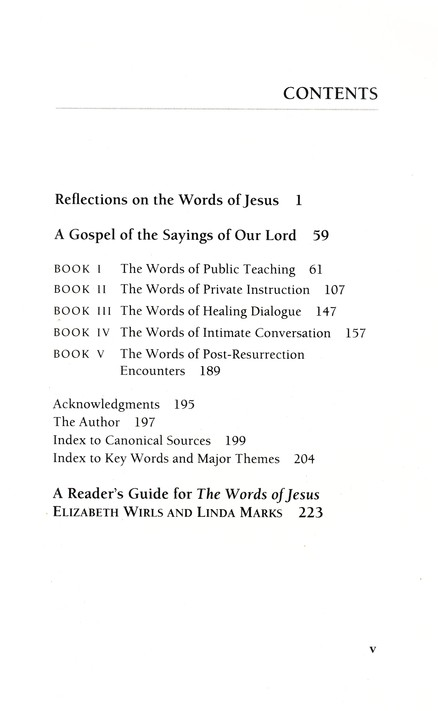 The Words of Jesus: A Gospel of the Sayings of Our Lord--With Reflections by Phyllis Tickle