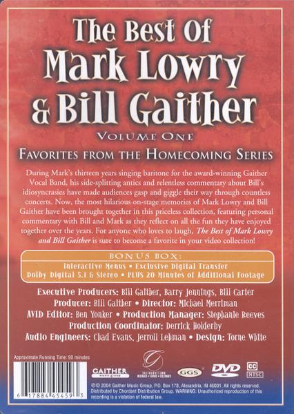 The Best of Mark Lowry & Bill Gaither, Volume 1, DVD