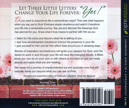 What Happens When Women Say Yes to God: Experiencing Life in Extraordinary Ways / Unabridged Unabridged Audiobook on CD