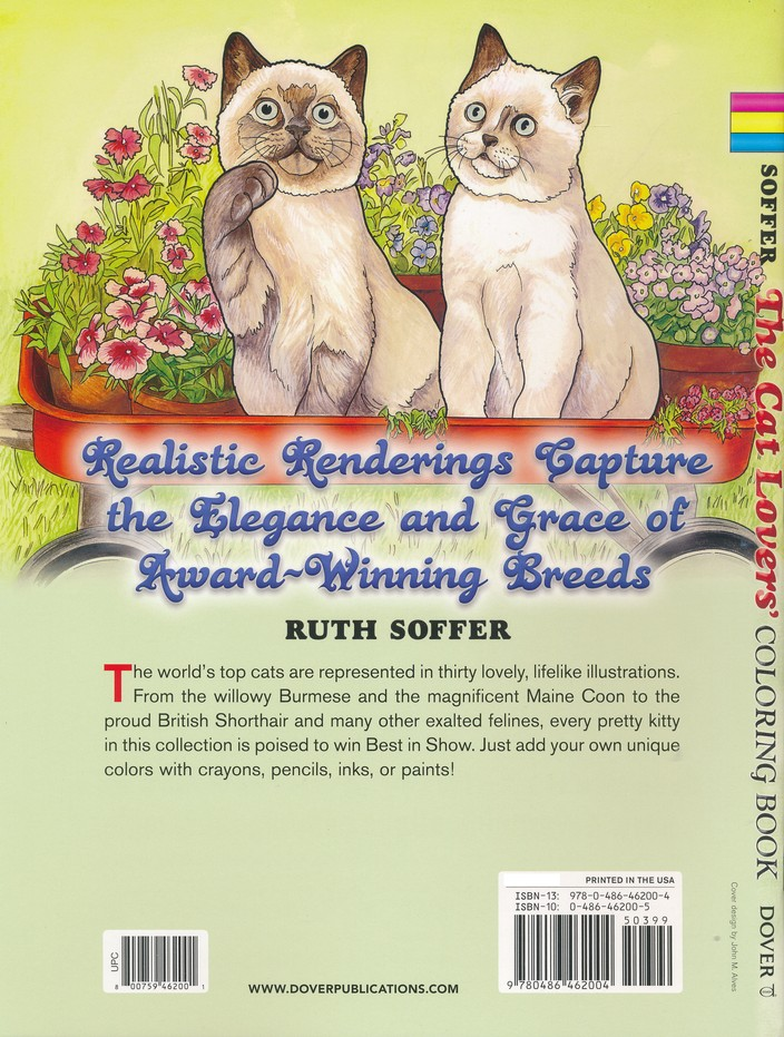 The Cat Lovers Coloring Book Ruth Soffer 9780486462004