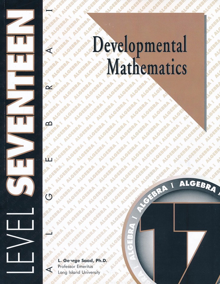 Developmental Mathematics, Level 17, Algebra I