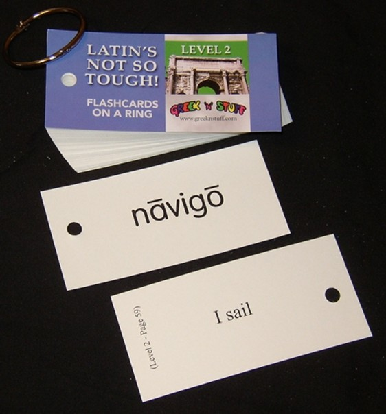 Latin's Not So Tough! Level 2 Flashcards on a Ring