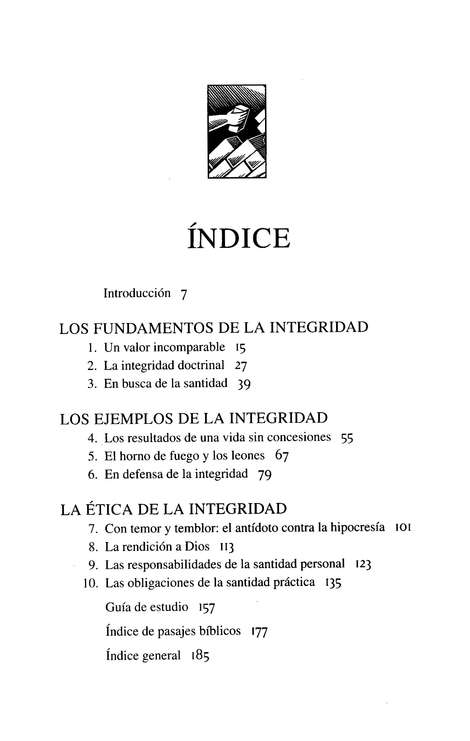 El Poder de la Integridad  (the Power of Integrity)