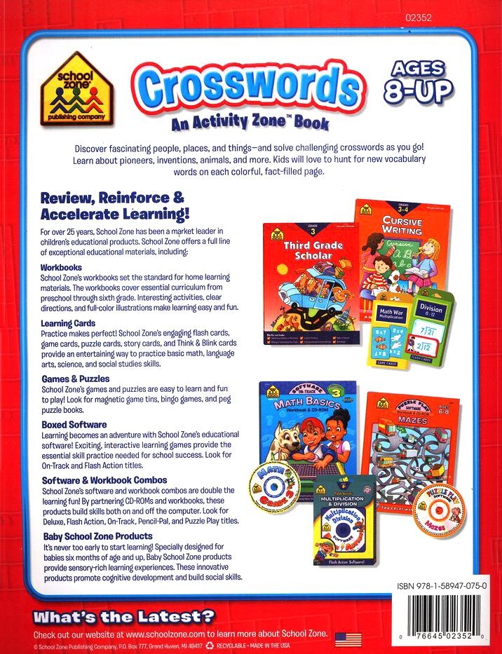 Crosswords: An Activity Zone Book, Ages 8-Up