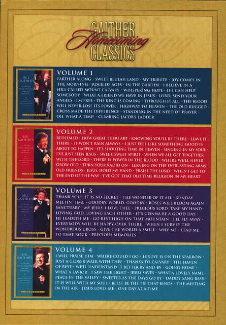 Gaither Homecoming Classics Volumes 1-4 DVD