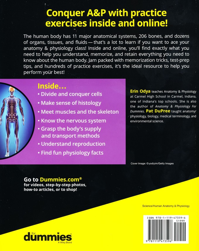 Anatomy and Physiology Workbook For Dummies, with Online Practice ...