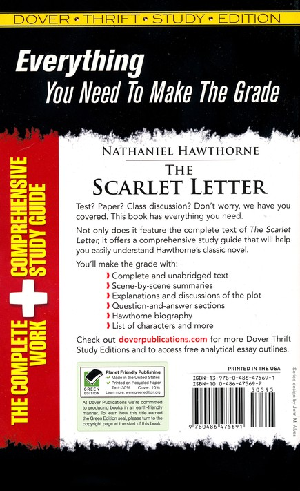 The Scarlet Letter, Dover Thrift Study Edition