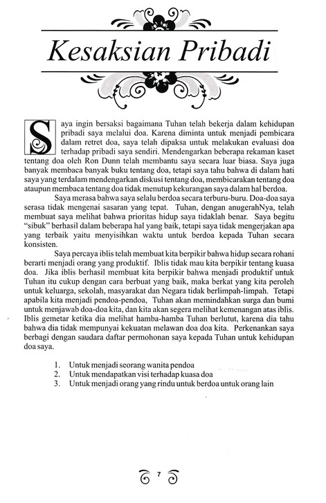 Ministry Booklet - Indonesian