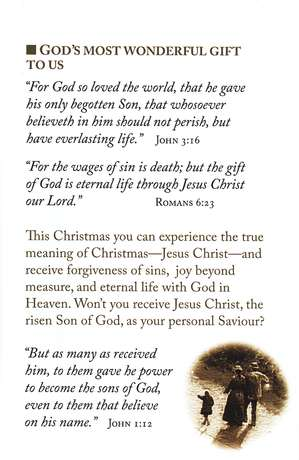 The True Meaning of Christmas  (KJV), Pack of 25 Tracts