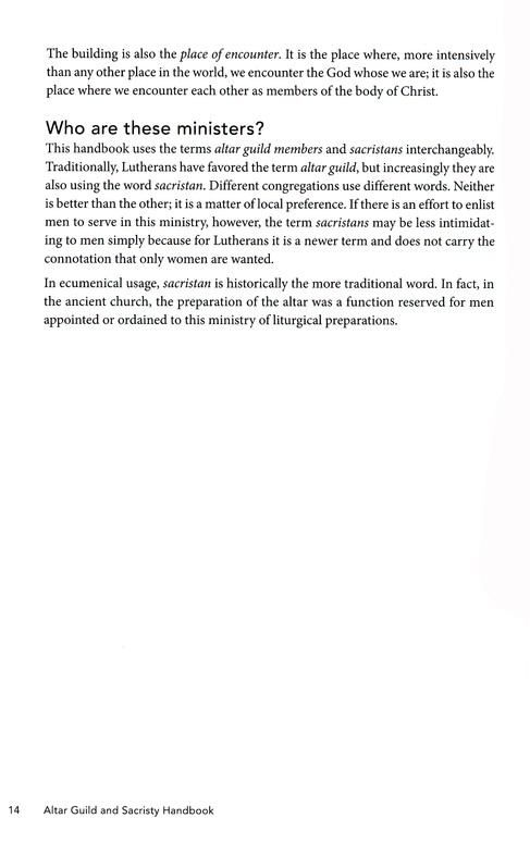 Altar Guild Sacristy Handbook (Handbook (Augsburg Fortress))