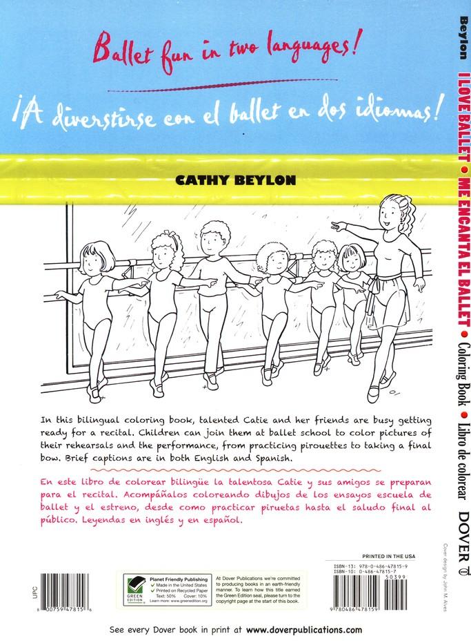 I Love Ballet/Me Encanta el Ballet, Bilingual Coloring Book: Cathy ...