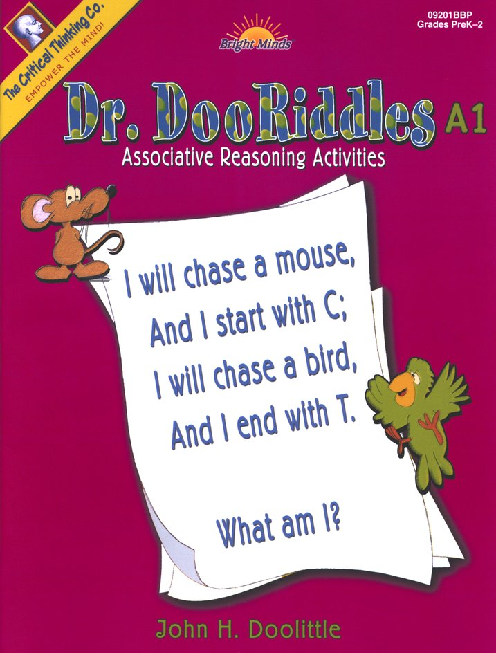 Dr. DooRiddles Associative Reasoning Activities Grades K-3 Ability Book A1