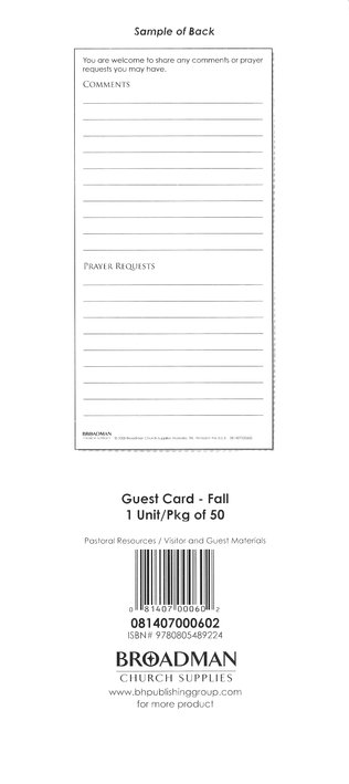 Fall: Guest Cards, 50