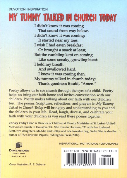 My Tummy Talked in Church Today: Poems and Devotions for Adults Who Love Children