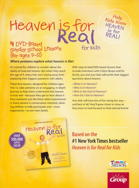 Heaven is for Real for Kids: 4 DVD-Based Sunday School Lesssons (Ages 9-12)