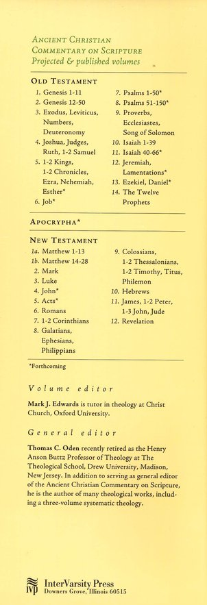 Galatians, Ephesians, Philippians: Ancient Christian Commentary on Scripture [ACCS]