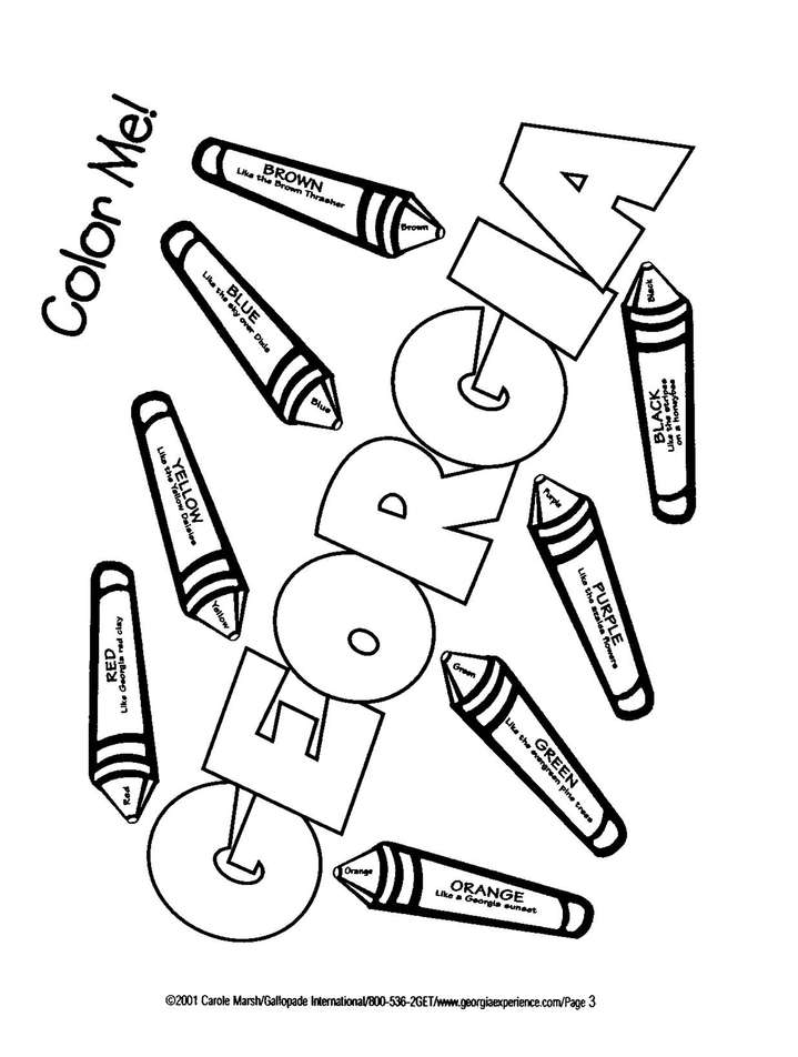 Georgia Coloring Book, Grades PreK-3