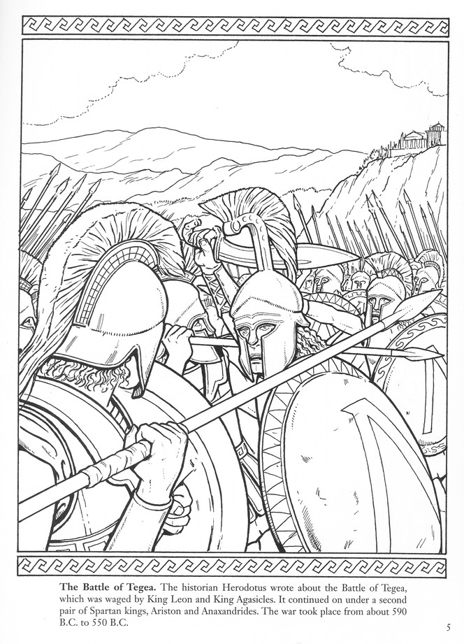 Sparta Warriors Of The Ancient World Coloring Book John Green 9780486498133 Christianbook Com