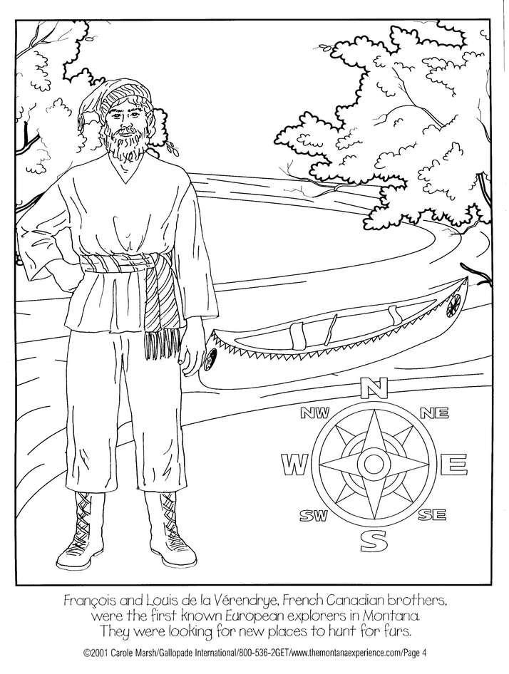 New World Explorers Coloring Book-Level A or B - WriteBonnieRose.com | 946x714