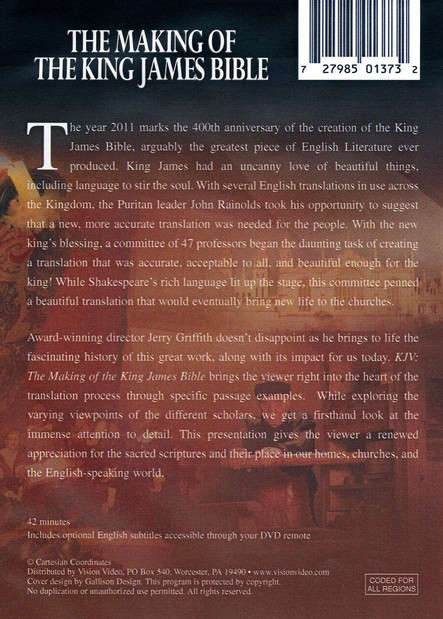 KJV: The Making of the King James Bible, DVD