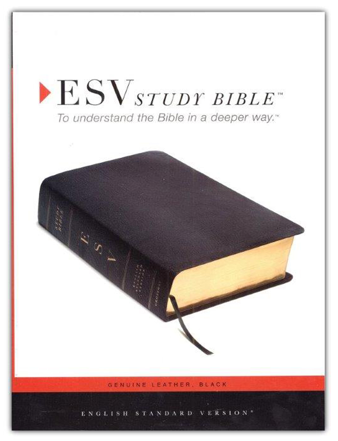 ESV Study Bible--Genuine leather, black
