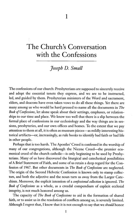 Conversation with the Confessions: Dialogue in the   Reformed Tradition