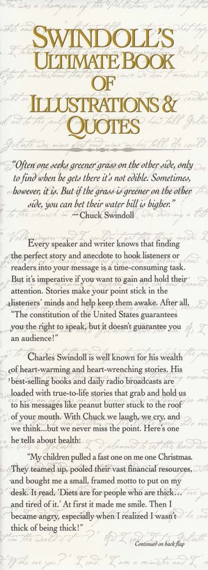 Swindoll's Ultimate Book of Illustrations & Quotes:  Over 1,500