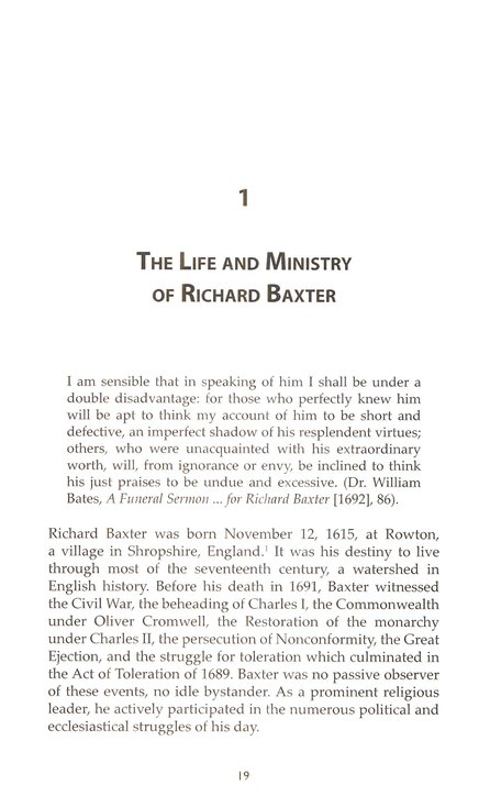 Richard Baxter and Conversion: A Study of the Puritan Concept of Becoming a Christian