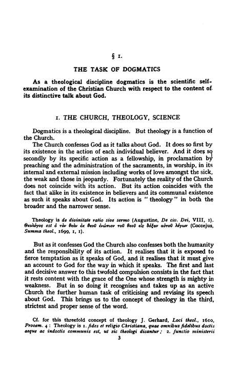Church Dogmatics I.1 The Doctrine of the Word of God; Prolegomena; The Word of   The Revelation of God