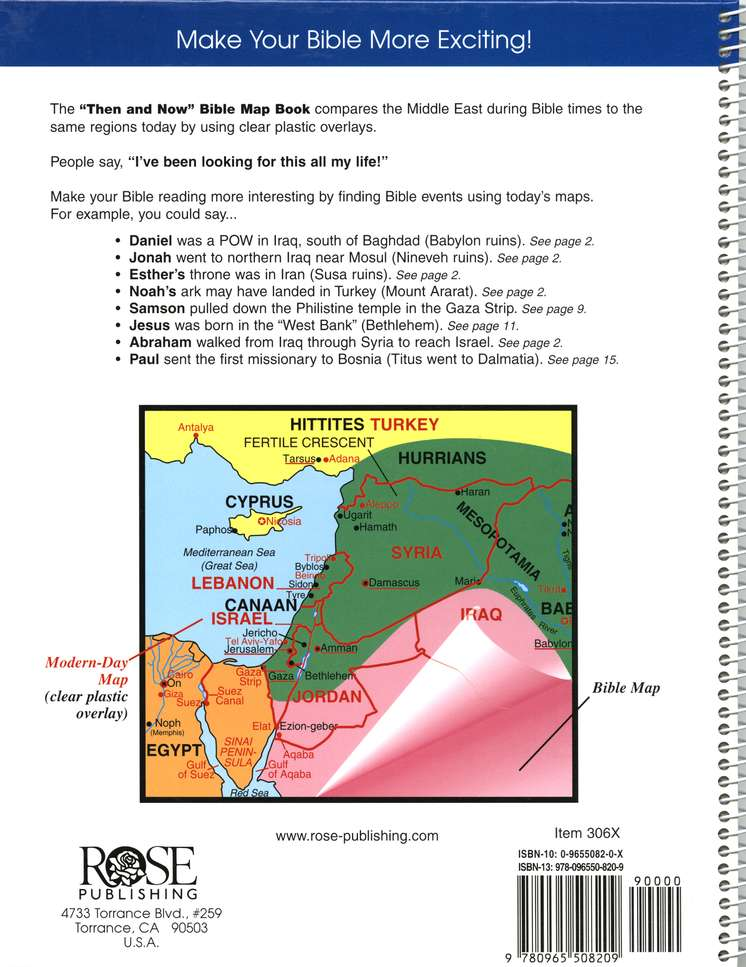 Then and Now Bible Maps Original