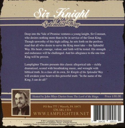Lamplighter Theatre: Sir Knight of the Splendid Way--2 CDs