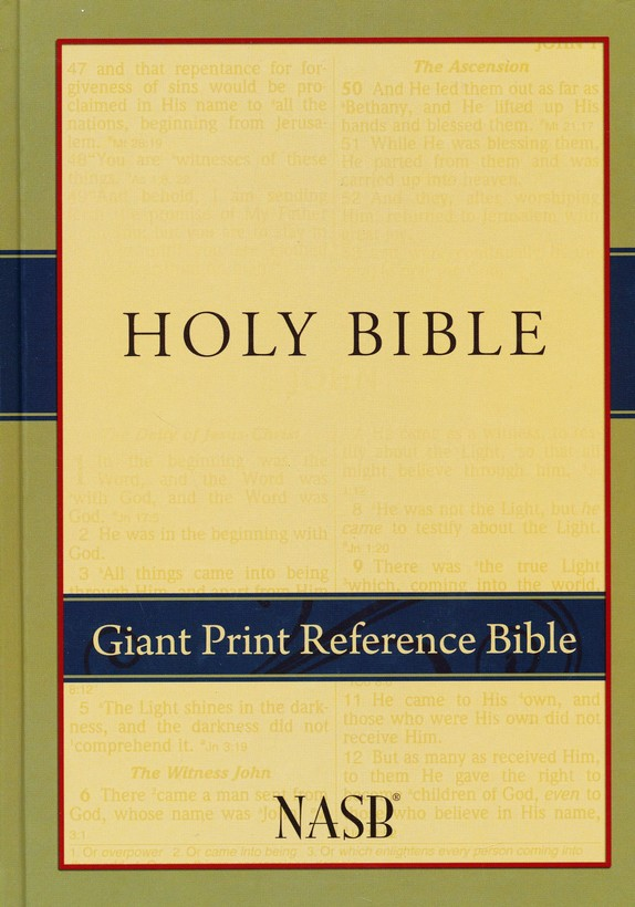NASB Giant Print Reference Bible, Hardcover