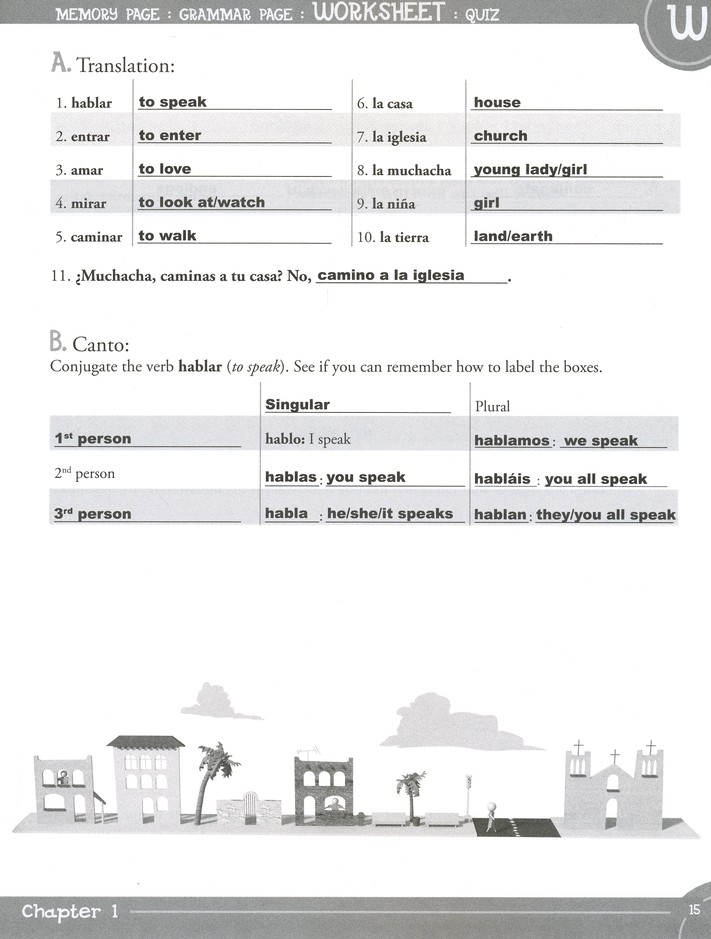Spanish for Children: Level A Key
