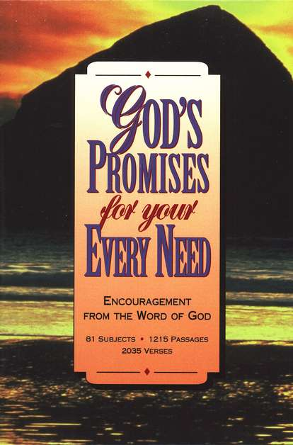 God's Promises for Your Every Need, Bonded leather burgundy - KJV