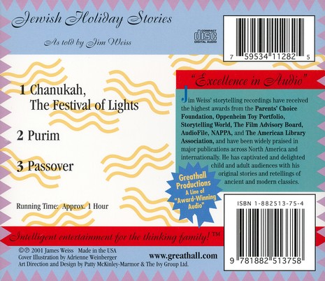 Jewish Holiday Stories - Audiobook on CD
