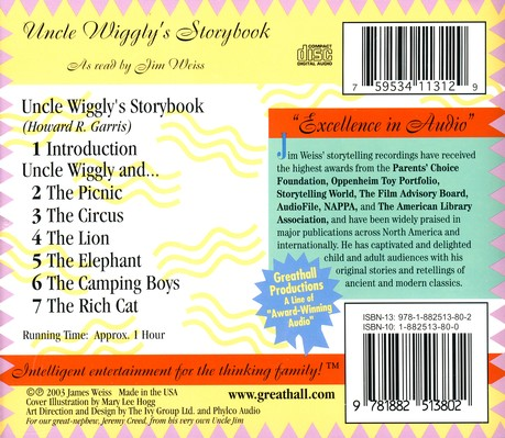Uncle Wiggly's Storybook on Audio CD